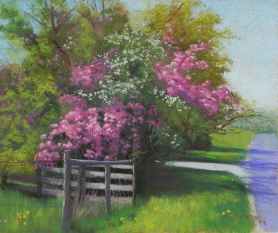 """Spring Apples,"" 20 x 24, pastel"