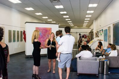 Chesapeake Framing and Art Gallery uses its space not only for art exhibits and receptions, but also for other cultural events including live poetry readings.