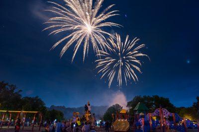 Fireworks at City of Gaithersburg's SummerFest.