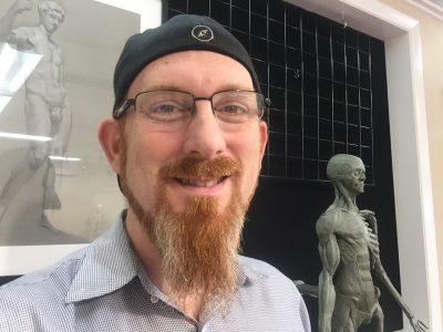 Artist-professor Glen Kessler.