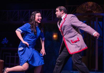 Evelyn Tsen (Yum-Yum) and Rishabh Bajekal (Nanki-Poo) in The Mikado