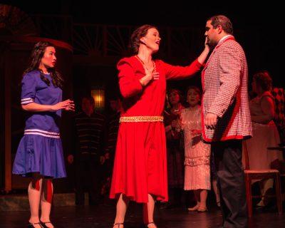Evelyn Tsen (Yum-Yum), Jenete St. Clair (Katisha) and Rishabh Bajekal (Nanki-Poo)