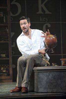 Danny Bernardy as linguist Henry Higgins.