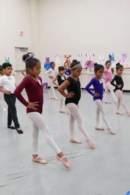 JumpStart students in summer intensive ballet class.