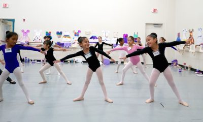JumpStart students in summer intensive ballet class.