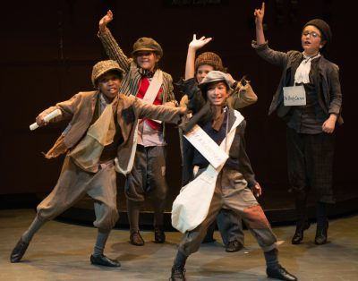 """From left, Neo-Audrey Bayiha, Betty Shanefelter, Eddie Hill, Anjali Shah and Rebecca Guilfoyle in Lumina's 2017 production of Charles Dickens' """"Barnaby Rudge."""""""