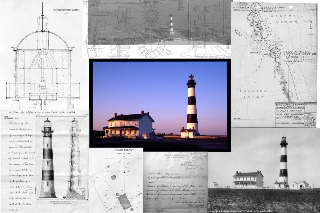 Bodie Island Lighthouse Collage, by Candace Clifford, Outer Banks, North Carolina