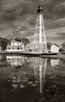 Cape San Blas Lighthouse, photograph by Candace Clifford, Port St. Joe, Florida