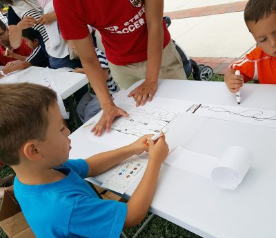 On Montgomery County Heritage Days in June, Gaithersburg's International Latitude Observatory welcomed children to take part in astronomy-related activities—like making pocket solar systems—and solar observations.