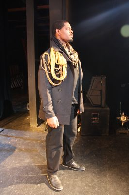 "Kenneth Hopkins Jr. as Othello in ""Othello."""