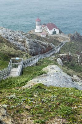 Point Reyes Lighthouse, photograph by Candace Clifford, Marin County, California