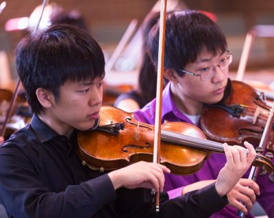 Justin Park plays during his fourth summer at the Senior String Institute.