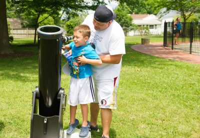 Visitors check out the equipment at the International Latitude Observatory on Montgomery County Heritage Days.