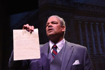 "Brian Anthony Wilson is Thurgood Marshall in ""Thurgood."""