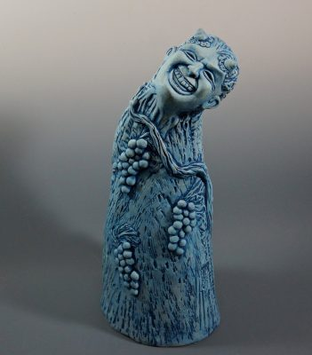 "Laurie Niswander, ""His Mad Pranks and Merry Jests,"" ceramic"