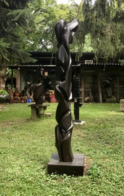 Towering totem: Outdoor sculptures by Dan Quinn.