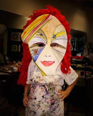 Painter Cindy Renteria created this mask.