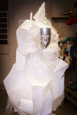 Designer Laura Lee Palmer's wearable mask of winter.