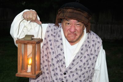 Dino Coppa as the mansion's spirited and clever resident ghost.