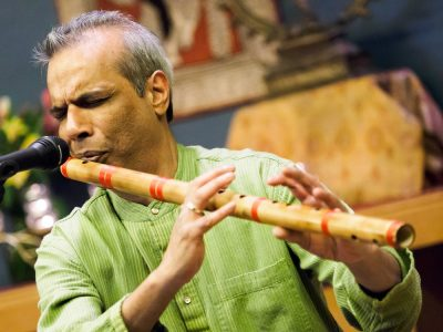 Montgomery County resident Deepak Ram, bansuri (bamboo flute) musician, performed in the Gandhi Memorial Center several years ago. He will offer the concluding musical homage for Gandhi Jayanti on Oct. 2.