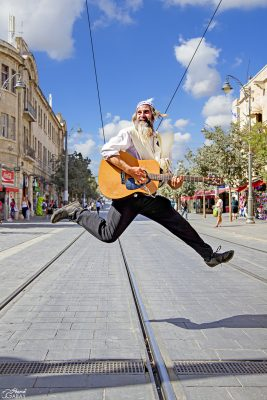 Jumping for joy in Jerusalem