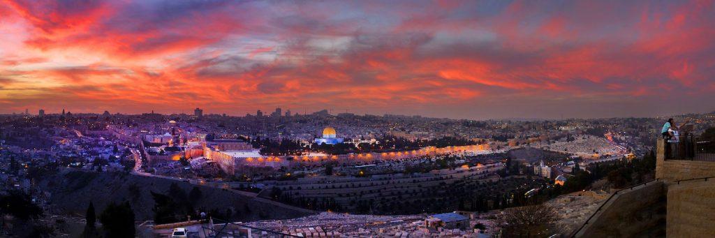 Gabay's beautifully lit portrait of modern Jerusalem: Can you spot the selfie takers?