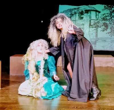 "From left, Rapunzel (Lucy Garretson) and the Witch (Nora ""Aiko"" Suliman)."