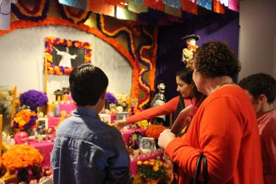 Visiting a Day of the Dead Altar at the Mexican Cultural Institute