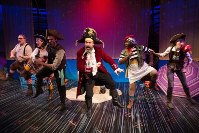 Dance like a pirate: From left, Gregory Atkin, Sarah Anne Sillers, Danny Bertaux, Peter Boyer, Awa Sal Secka and Michelle Huey