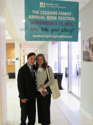 The new Lessans Family Literary Series was named in honor of Drs. Stuart and Ellen Lessans who are longtime supporters of the Bender Jewish Community Center.