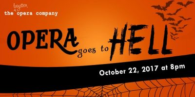 The Forgotten Opera Company presents Opera Goes to Hell on Oct. 22.