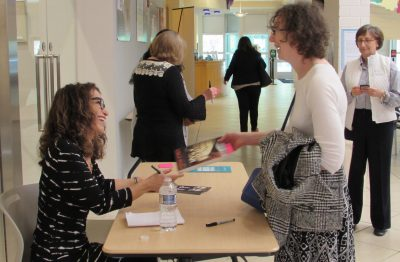 """Lawyer Lisa Smith signed copies of her book """"Girl Walks Out of a Bar: A Memoir"""" at last year's book fair."""
