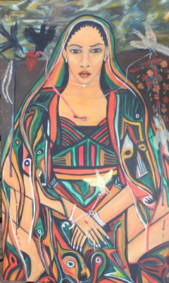 Mariama McCarthy paints, from memory, the women of the nomadic Tuareg community in the Tchin Tabaraden area of Niger.