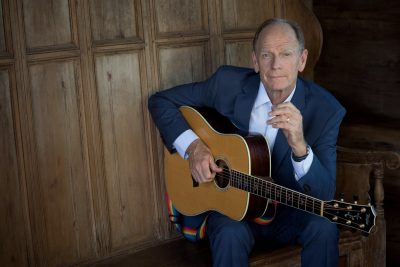 Concentration of talent: Singer-songwriter Livingston Taylor performs at AMP on Friday evening.