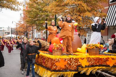 Truly grateful: Thanksgiving Float in Silver Spring.