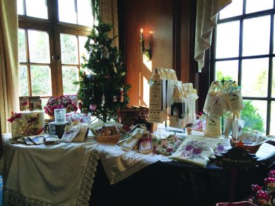 The array of offerings at Montgomery History's shop at last year's market in the Mansion.