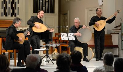Ronn McFarlane founded the ensemble Ayreheart that performs new compositions as well as early music.