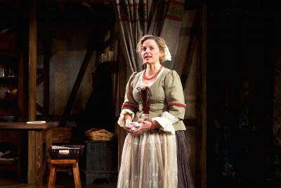 "Kimberly Gilbert (Elizabeth Condell) in Round House Theatre's production of ""The Book of Will."""
