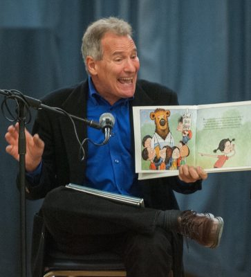 Barry Louis Polisar reading a children's book.