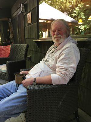 Author Paul Sleman Clark at home in Kensington.