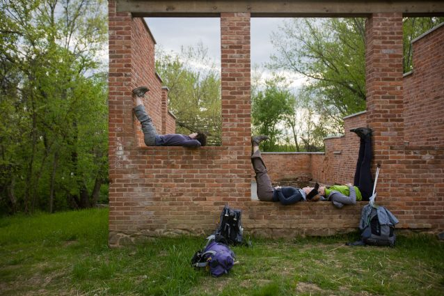 Scenes from the walk: Among Cassie Meador's collaborative projects was a 500-mile walk from Takoma Park to a West Virginian mountaintop that also featured art workshops, storytelling sessions and dance events.