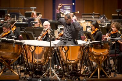 """Jauvon Gilliam, The National Symphony Orchestra's principal timpanist, will join the BSO to perform Philip Glass' """"Concerto Fantasy for Two Timpanists and Orchestra."""""""