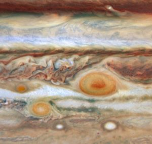 """This image of Jupiter's red spot will accompany the """"Cosmic Designs"""" concerts."""