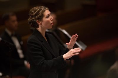 Rachel Carlson is the founder and artistic director of the Six Degree Singers.