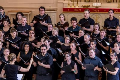 A strong sense of community pervades this young professional group of singers.