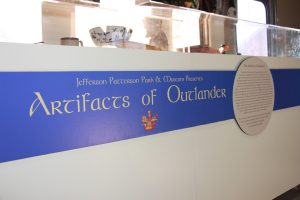 "The traveling exhibit ""The Artifacts of Outlander"" is on display in the Community Museum Budd Car."