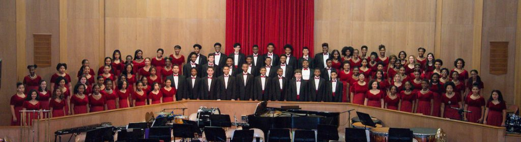 """Members of the Duke Ellington School of the Arts' Concert Choir, led by Samuel Bonds, will accompany the 180-member National Philharmonic Chorale, in """"Porgy and Bess."""""""