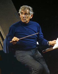 Composer-conductor Leonard Bernstein (1973)