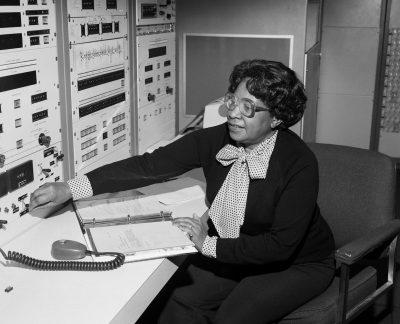 Mary Jackson at work at NASA Langley.