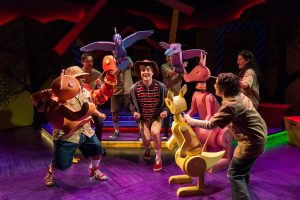 """The cast of Adventure Theatre MTC's """"Alexander and the Terrible, Horrible, No Good, Very Bad Day."""""""